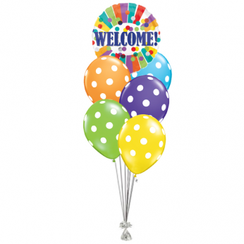 Ballonboeket Welcome Dots